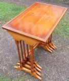Yew Nest of Four Rectangular Top Coffee Tables by Bradley